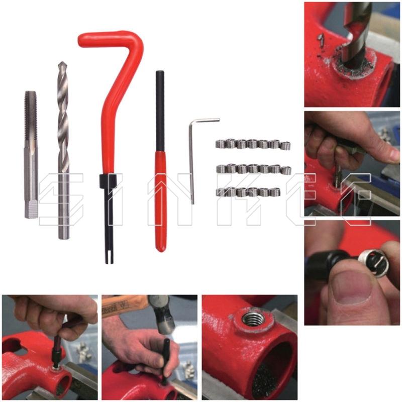 25 Pcs Thread Repair Recoil Insert Kit Drill Tap M5 X 0 8