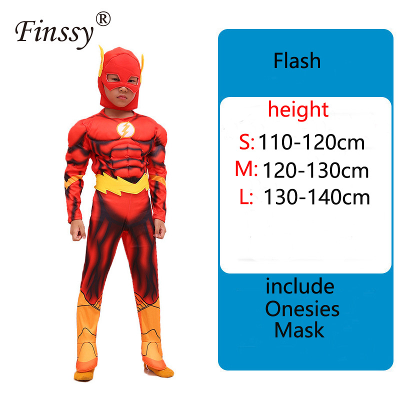 Halloween Cosplay Costume For Kids Avengers Heroic Flash Onesies Birthday Party Carnival Clothes Very Cool Gift