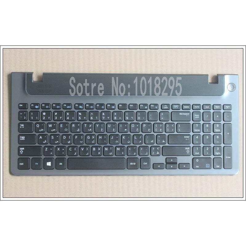 New AR laptop keyboard with frame for samsung 355V5C 350V5C 355 V5X Arabic keyboard layout