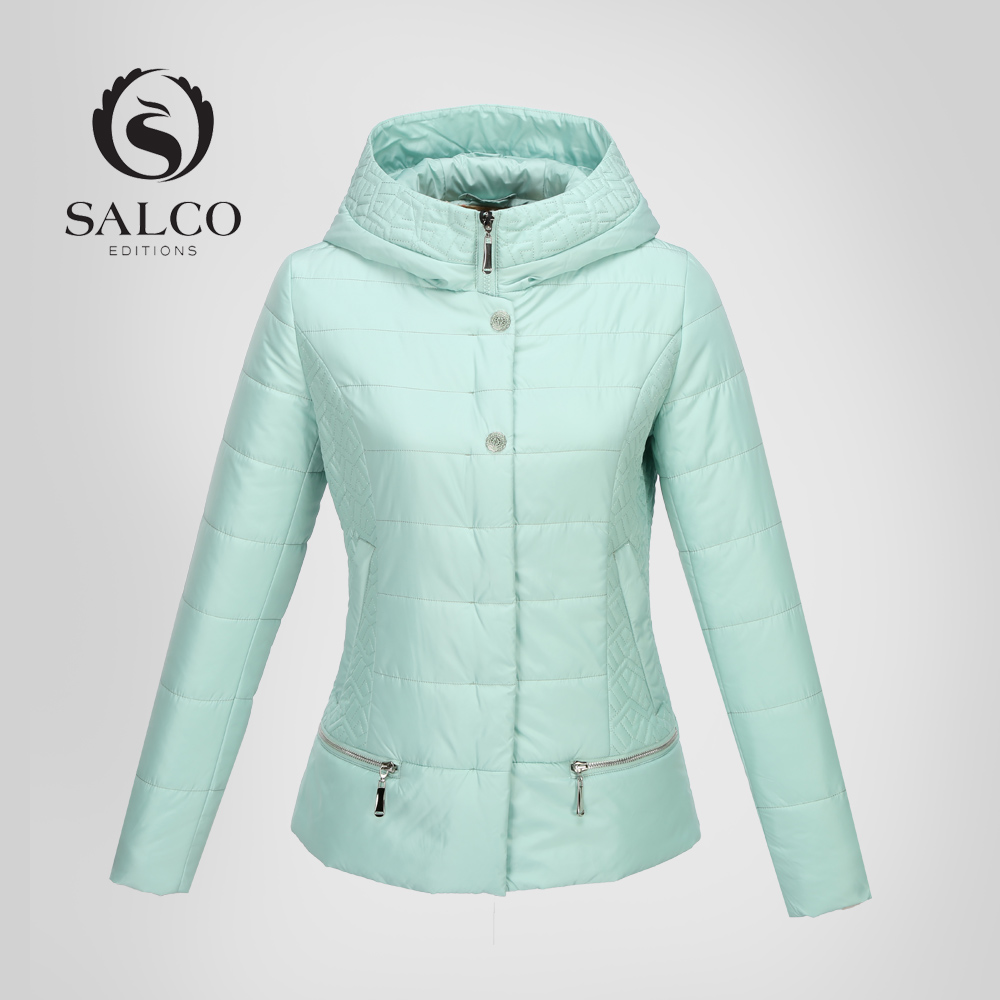 SALCO Free shipping New women's fashion jacket in 2017 cotton jacket qiu dong suit to keep warm quality women's coat pinli product made of cultivate morality even cap long cotton padded jacket zipper qiu dong outfit b173605400 male coat