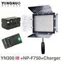 Dhphoto yongnuo yn300 iii 5500 k 300 luz led de la cámara de iluminación para la boda con np-f750 batería y cargador