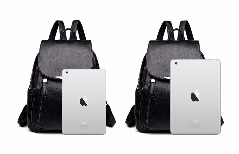 HTB1J3MyXdjvK1RjSspiq6AEqXXa2 2019 Women Leather Backpacks Female Shoulder Bag Sac A Dos Ladies Bagpack Vintage School Bags For Girls Travel Back Pack New