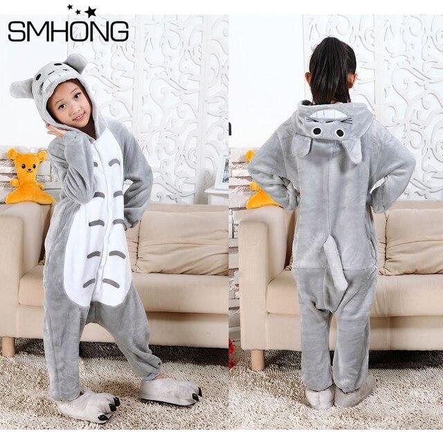 3fe1c075dc99 Girls Boys Winter Unicorn Children pajama set Flannel Animal Cartoon Kid  Clothes pyjama Hooded Romper Sleepwear Onesie