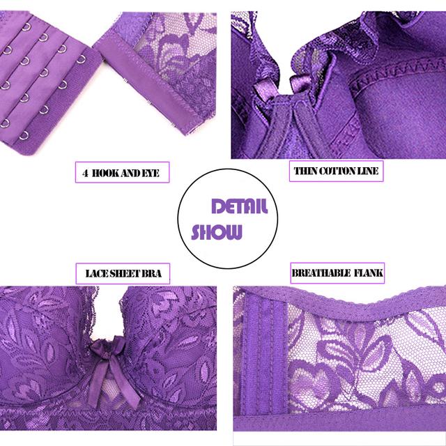 Lingerie deep V sexy big size bra
