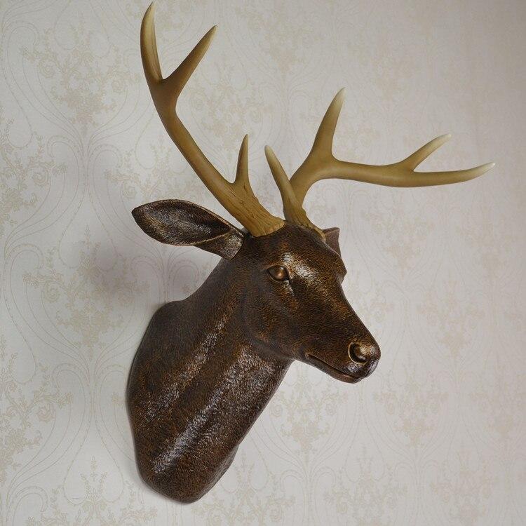 wall mounted brown buck bust deer head trophy wall art plaque hunt  sculpture-faux taxidermy - Online Get Cheap Plastic Deer Head Wall Mount -Aliexpress.com