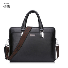 XIYUAN BRAND man black Business Briefcase hand Bag men portable Casual brown cow Genuine Leather Shoulder Messenger Bags Male