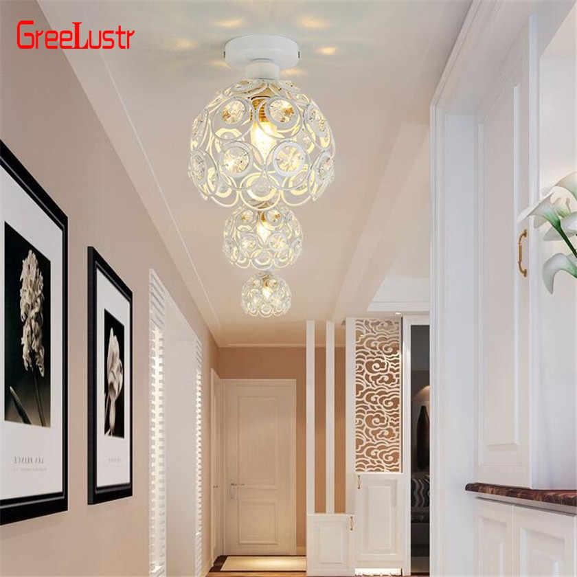 Современный светодиодный хрустальная люстра потолочный фонарь Потолочные Подвесные лампы блестящие plafonchandeliers для кухонные лампы E27 лампы