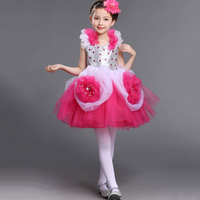 Girls Flower Girl Pageant Dresses Wedding Birthday Party Dress Up Costume Green Hot Pink And White