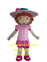 strawberry girl mascot costume strawberry short cartoon character cosply adult size carnival costume 3465