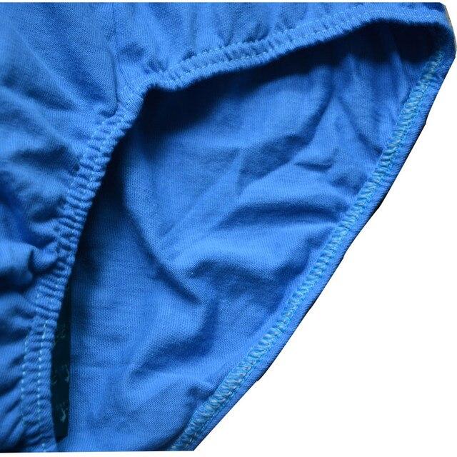 4pcs/lot 100% Cotton 4XL/5XL/6XL Men's Breathable Panties 3