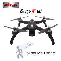 Dron teledirigido con 5G, WIFI y cámara de ajuste automático, cuadricóptero teledirigido con Motor sin escobillas MJX R/C Bugs 5 W B5W