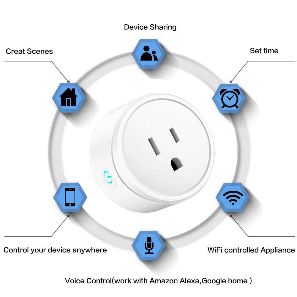 Prise de maison intelligente sans fil WIFI prise de contrôle à distance synchronisation de la commande vocale prise de courant intelligente prise de charge Alexa Google EU/UK/US