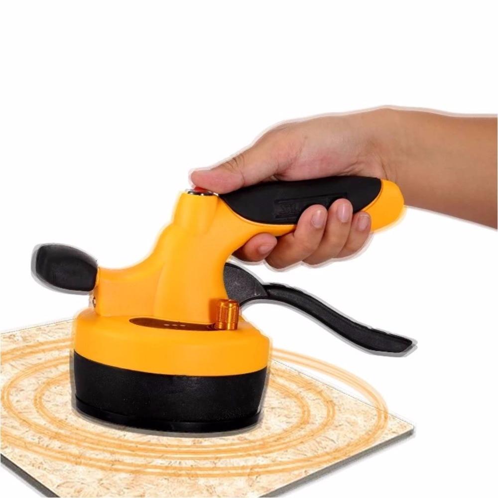Electric tiling machine Stick ceramic tile tool Spread glue Vibratory tile fixing tool + Brick drilling locator
