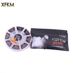 XFKM 8 в 1 готовая катушка Clapton катушка чужой Тигр улья Quad плоский витой плавленый нагревательная проволока для Vape DIY E Cig Premade катушка