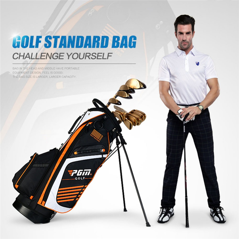 Image 2 - Pgm Portable Golf Stand Bag Golf Bags Men Women Waterproof Golf  Club Set Bag With Stand 14 Sockets Outdoor Sport Cover Bag D0069Golf  Bags