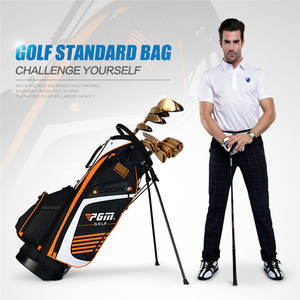 Image 2 - Pgm Portable Golf Stand Bag Golf Bags Men Women Waterproof Golf Club Set Bag With Stand 14 Sockets Outdoor Sport Cover Bag D0069