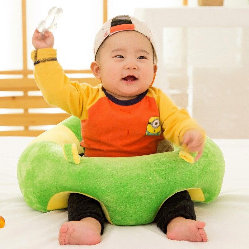 Colorido encantador bebé asiento de soporte de algodón suave de asiento de coche almohada cojín juguetes de peluche 0-2 año