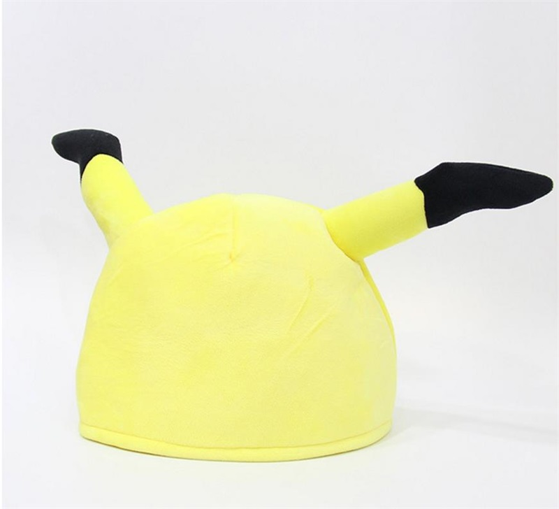 Japanese Anime Adult Kids Pokemon Pikachu Mimikyu Plush Hat Cosplay Custome Props Accessories Cartoon Warm Cap Headwear Hat Novelty & Special Use