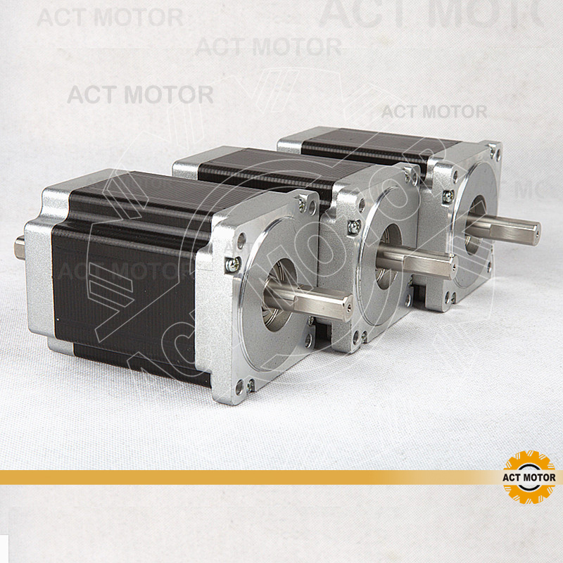 ACT Motor 3PCS Nema34 Stepper Motor 34HS9820B 890oz 98mm 2A 8-Lead Dual Shaft CE ISO ROHS CNC Router US DE UK IT SP FR JP Free act motor 4pcs nema34 stepper motor 34hs9820 890oz in 98mm 2a 8 lead single shaft ce iso rohs plastic us ca de uk it fr jp free