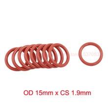 OD 15mm x CS 1.9mm red o-ring silicone o ring seal sealing gasket set цены