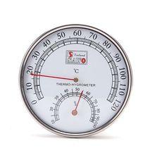 Термометр для сауны, металлический чехол, термометр для паровой сауны, гигрометр для ванны и сауны, для использования в помещении и на открытом воздухе
