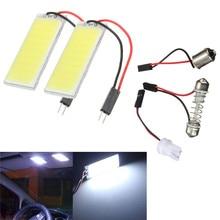 2 компл. светодиодный белый 36 SMD салона COB светодиодов Панель T10 COB Чип 31-42 мм гирлянда 12 В адаптер Авто Панель s светло