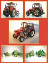 Construction Machinery Zetor 7745 / 7211 Tractor 3D Paper Model DIY Handmade Papercraft Toy