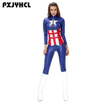 The Avengers Catsuit Super Hero Captain Jumpsuit Wonder Women Cosplay America Captain Costumes Halloween Tight Bodysuit