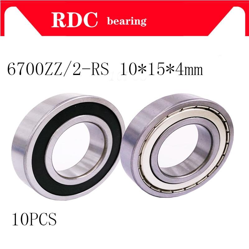 10pcs/lot 6700zz 6700 2RS 6700Z Shielded Ball Bearings 7600 10x15x4 Mm Steel 6700ZZ Ball Bearings Thin Wall Roller 6700 Bearing