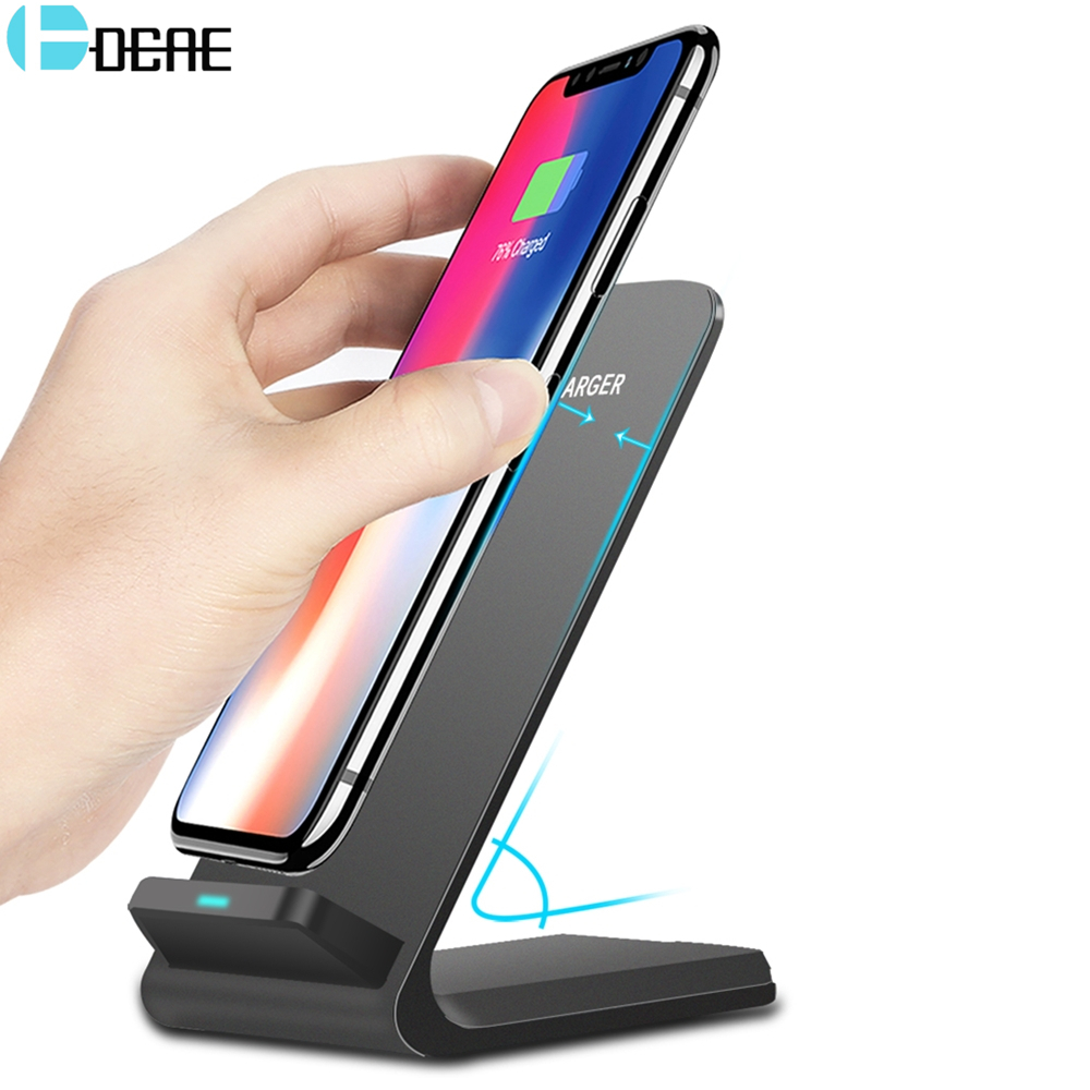 DCAE 10W Qi trådløs lader for iPhone 11 Pro Max XR X XS 8 hurtigladestativ for Samsung S10 S9 S8 Xiaomi mi 9 Telefon Holder