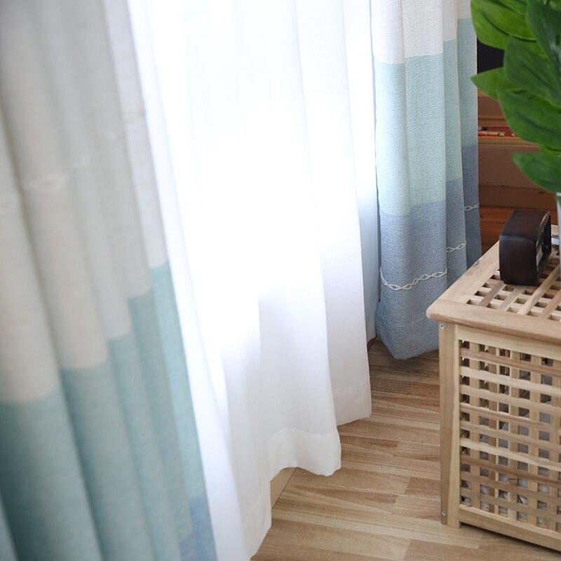 Aliexpress Japan Stil Horizontale Gestreifte Vorhnge Fr Wohnzimmer Thick Jacquard Faux Leinen Schlafzimmer Gestreiften Moderne