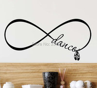 2015 New Dance Ballet Shoes Forever Infinity Symbol Vinyl Wall Decal Lettering Saying Quote Stencil Art