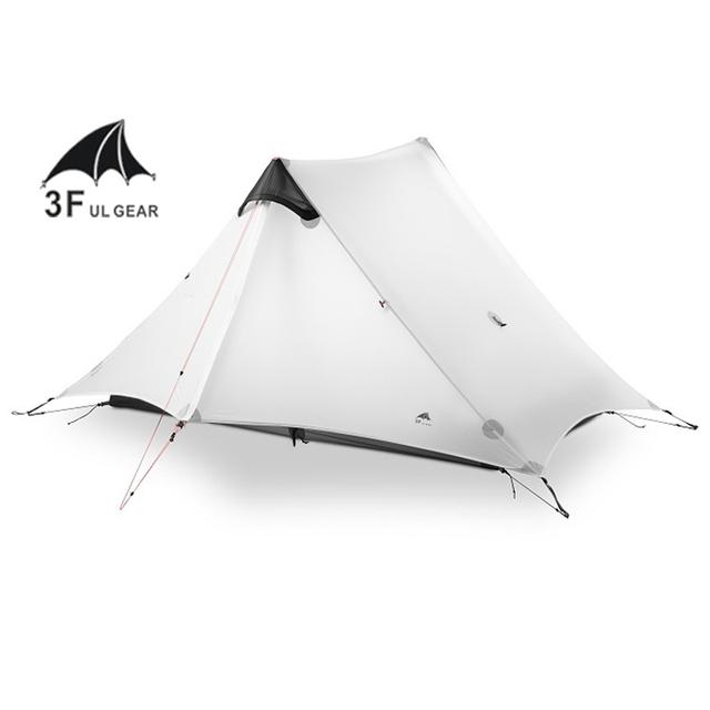 2018 LanShan 2 3F UL GEAR 2 Person Oudoor Ultralight Camping Tent 3 Season Professional 15D Silnylon Rodless Tent