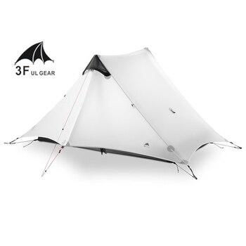 цена на 3F UL GEAR LanShan 2 Person Oudoor Ultralight Camping Tent 3 Season Professional 15D Silnylon Rodless Tent