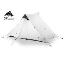 3F Ul Gear Lanshan 2 Persoon Oudoor Ultralight Camping Tent 3 Seizoen Professionele 15D Silnylon Stangloze Tent