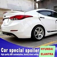 read stop brake lamp LED light High Quality ABS Material for HYUNDAI ELANTRA spoiler Car Rear Wing Primer Color rear spoiler