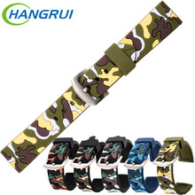Smart bracelet 20mm 22mm 24mm silicone camouflage watch band for men women watch strap camo smartwatch accessories assista cinta(China)