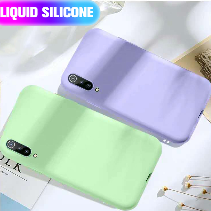 Silicon Phone Case For <font><b>Xiaomi</b></font> <font><b>mi</b></font> 9 Lite A3 9T <font><b>A2</b></font> 8 9 Light Case Soft Flip Liquid <font><b>Silicone</b></font> Back Cover Xiomi Redmi Note 8 Pro 8T 7 image