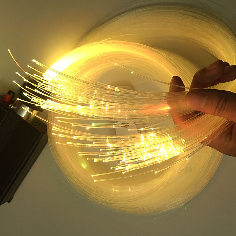 Led Fiber Optics Lighting 0.25MM 12000M Plastic End Grow Fiber Optic Cable Lighting Star Sky Ceiling Lluminacion Fibre Optique