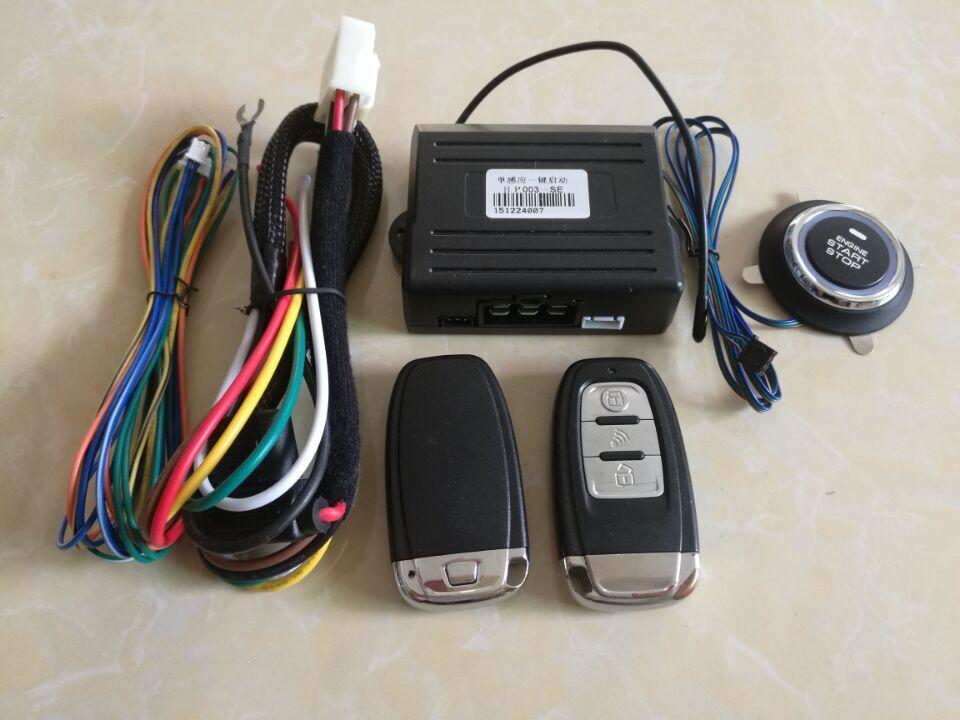 Système d'alarme de voiture universel PKE démarrage sans clé fonction de sécurité intégrée bouton de verrouillage Central à distance arrêt de démarrage automatique pour Volks