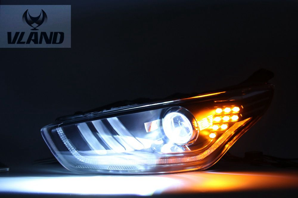 Free shipping vland factory Hottest selling for  Fords Escorts headlight  2015 2016 LED High brightness!!Mustan Design model!  free shipping vland factory auto car styling for ford escorts fries headlight led 2015 2016 headlamp with hid xenon