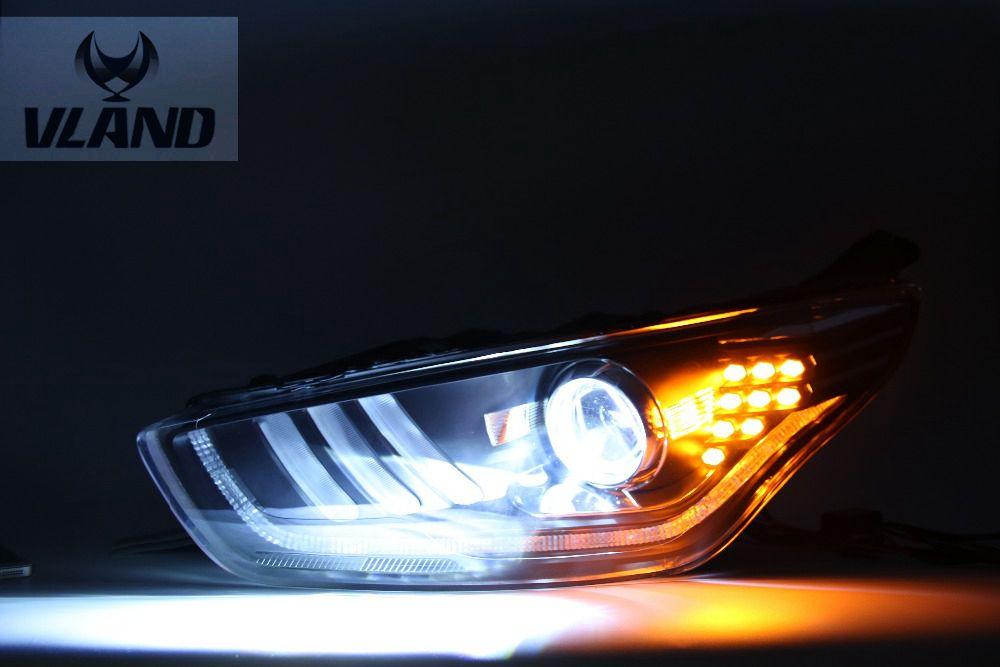 Бесплатная доставка вланд фабрика горячие продажа для Форда Эскорт 2015 2016 фара СИД высокой яркости!!Дизайн модели Mustan!