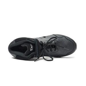 Image 3 - Sansha Dans Sneakers Domuz Deri Üst TPR Bölünmüş taban Yüksek Top Düşük Topuk Ayakkabı Kız Kadın Erkek Modern Dans ayakkabı B62LPI