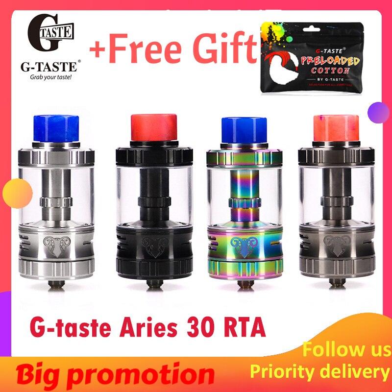 Mais novo Vape G-gosto Aries 30 RTA 10 ml/6 ml Único parafuso sistema AFC 510 fio Vape atomzier vs vapor anseiam Aromamizer plus