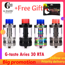 Newest Vape G-taste Aries 30 RTA 10ml/6ml Unique screw AFC system 510 thread Vape Atomzier vs steam crave Aromamizer plus стоимость