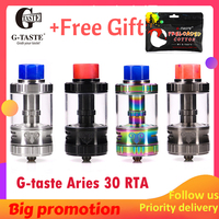 Newest Vape G taste Aries 30 RTA 10ml/6ml Unique screw AFC system 510 thread Vape Atomzier vs steam crave Aromamizer plus