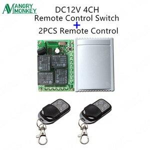 Image 3 - 433 Mhz evrensel kablosuz uzaktan kumandalı anahtar DC12V 4CH röle alıcı modülü ve 5 adet RF uzaktan kumanda 433 Mhz verici