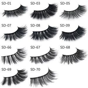 Image 3 - 50 Pairs 3d Mink Lashes Wholesale Handmade natural False Eyelashes 3D Mink Eyelashes Dramatic Lashes 17styles makeup Eye Lashes