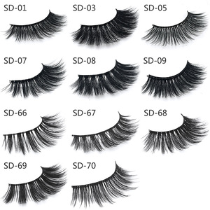 Image 3 - 50 Pairs 3d Mink Wimpers Groothandel Handgemaakte natuurlijke Valse Wimpers 3D Mink Wimpers Dramatische Wimpers 17styles make Wimpers
