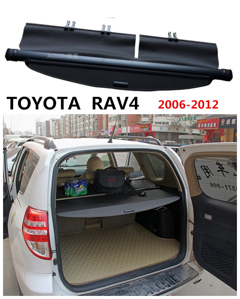 For TOYOTA <font><b>RAV4</b></font> 2006 07 08 09 <font><b>2010</b></font> 2011 2012 Rear Trunk Cargo Cover Security Shield Screen shade High Qualit Car <font><b>Accessories</b></font> image
